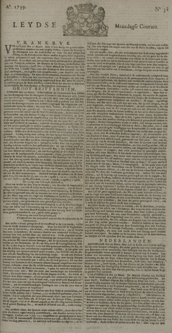 Leydse Courant 1739-03-30