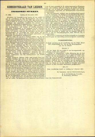 Handelingen van de Raad 1922-11-29