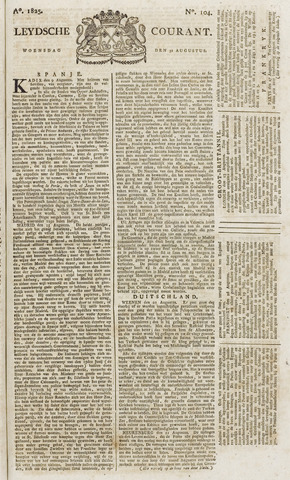 Leydse Courant 1825-08-31