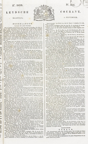 Leydse Courant 1839-11-11