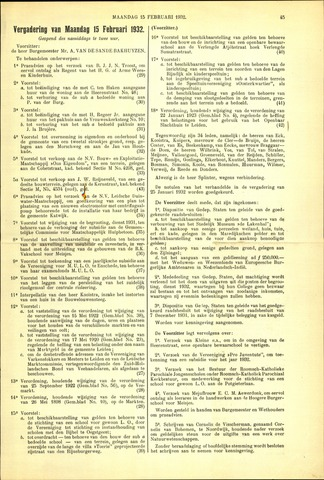 Handelingen van de Raad 1932-02-15