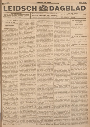Leidsch Dagblad 1926-04-27