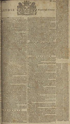 Leydse Courant 1760-10-15