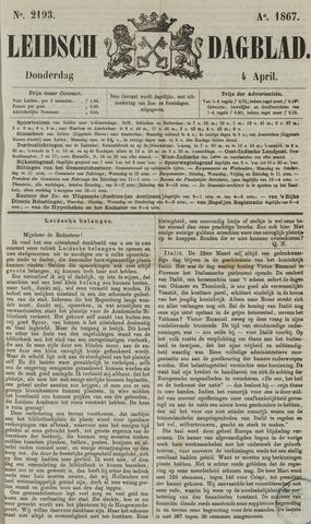 Leidsch Dagblad 1867-04-04