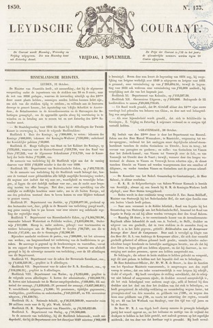 Leydse Courant 1850-11-01