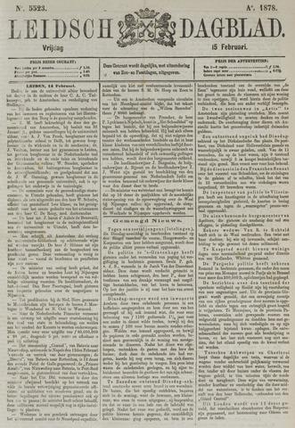 Leidsch Dagblad 1878-02-15