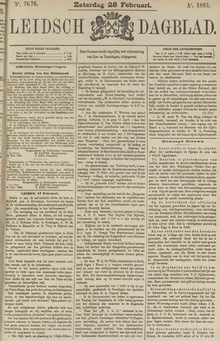 Leidsch Dagblad 1885-02-28