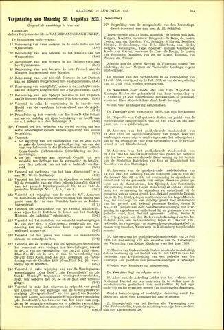 Handelingen van de Raad 1933-08-28