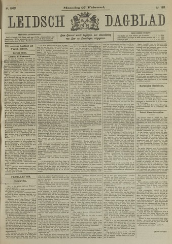 Leidsch Dagblad 1911-02-27