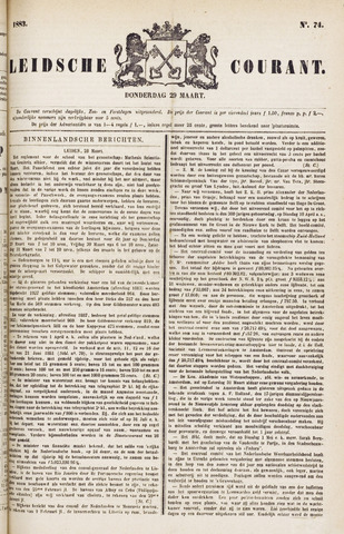 Leydse Courant 1883-03-29