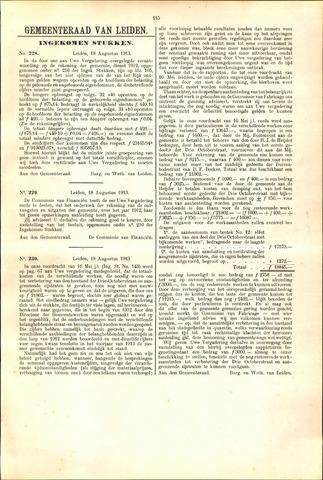 Handelingen van de Raad 1913-08-18