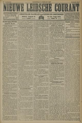 Nieuwe Leidsche Courant 1927-02-10