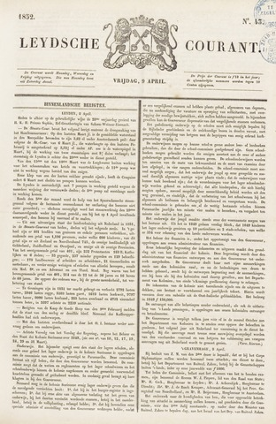 Leydse Courant 1852-04-09