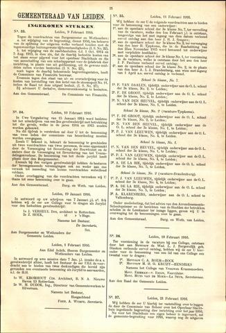 Handelingen van de Raad 1916-02-09
