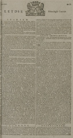 Leydse Courant 1727-07-21