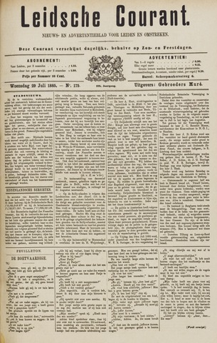 Leydse Courant 1885-07-29