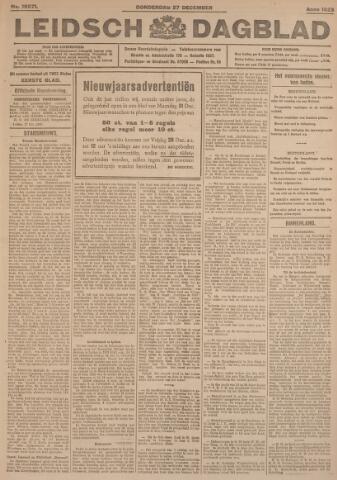 Leidsch Dagblad 1923-12-27