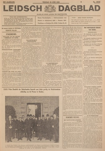 Leidsch Dagblad 1928-06-29