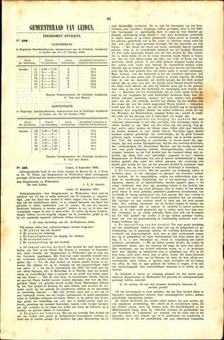 Handelingen van de Raad 1885-10-18