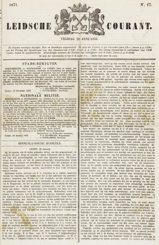Leydse Courant 1871-01-20