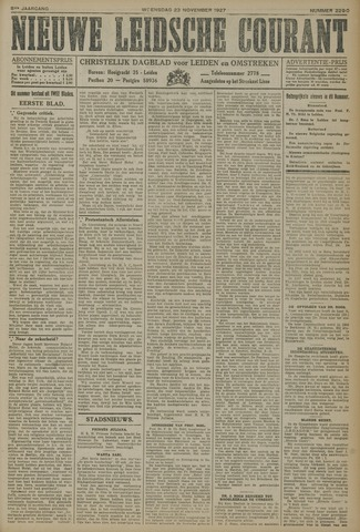 Nieuwe Leidsche Courant 1927-11-23