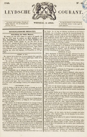 Leydse Courant 1846-04-15