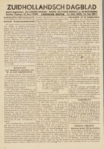 Zuidhollandsch Dagblad 1944-12-28