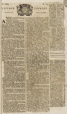 Leydse Courant 1814-11-30