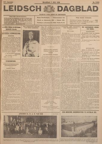 Leidsch Dagblad 1930-07-07