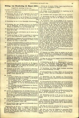 Handelingen van de Raad 1918-03-14