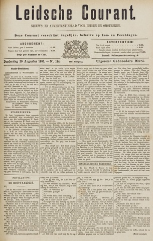 Leydse Courant 1885-08-20