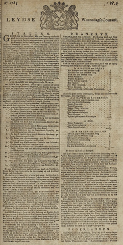 Leydse Courant 1765-01-16