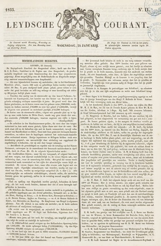 Leydse Courant 1855-01-24