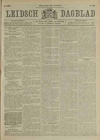 Leidsch Dagblad 1911-10-28