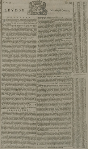 Leydse Courant 1749-11-17
