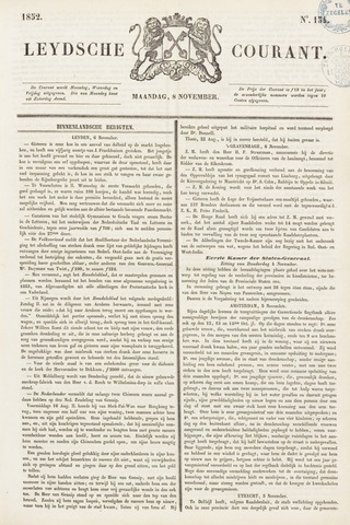 Leydse Courant 1852-11-08