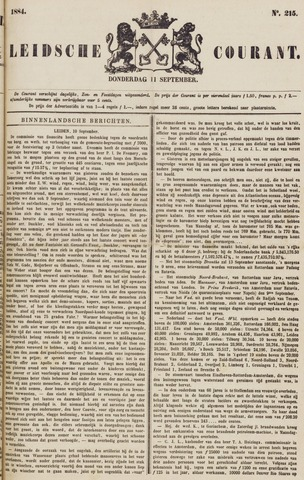 Leydse Courant 1884-09-11