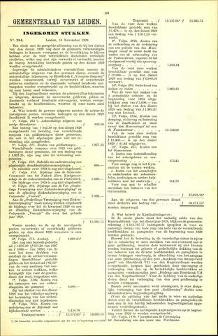 Handelingen van de Raad 1929-11-18