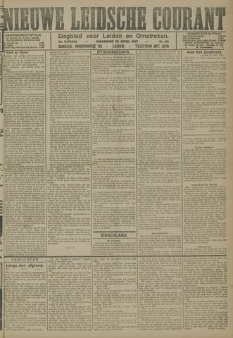 Nieuwe Leidsche Courant 1921-04-25