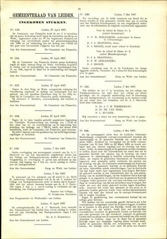 Handelingen van de Raad 1907-04-27