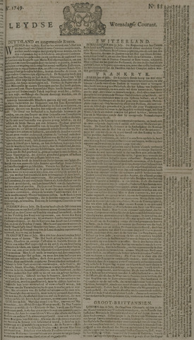 Leydse Courant 1749-07-23