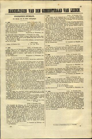 Handelingen van de Raad 1875-11-09
