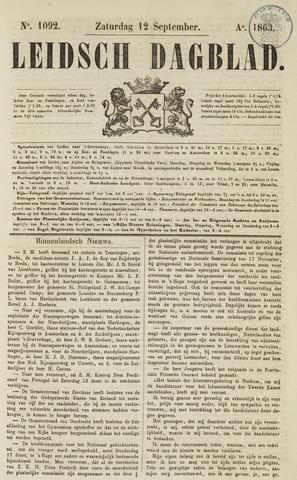 Leidsch Dagblad 1863-09-12