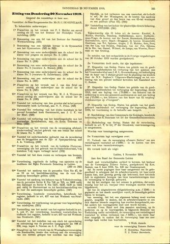 Handelingen van de Raad 1919-11-20