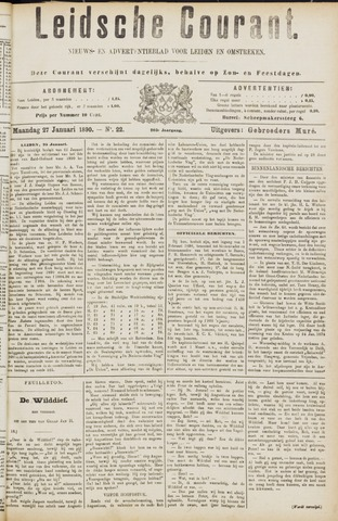 Leydse Courant 1890-01-27