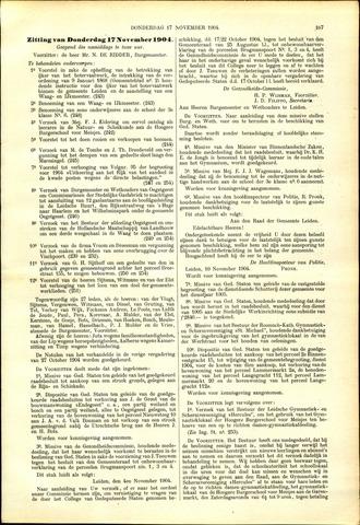 Handelingen van de Raad 1904-11-17