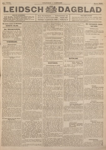 Leidsch Dagblad 1926-02-01