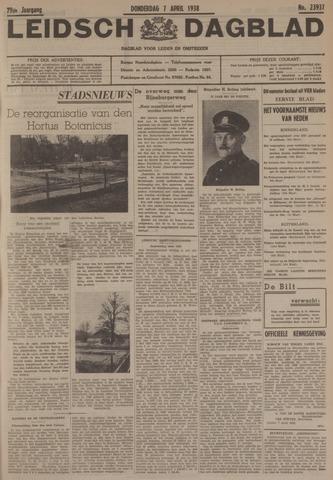 Leidsch Dagblad 1938-04-07
