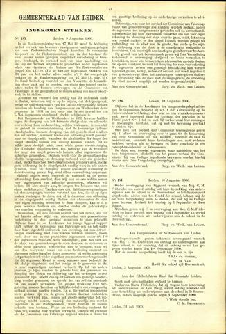 Handelingen van de Raad 1900-08-09