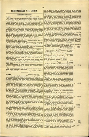 Handelingen van de Raad 1885-08-08
